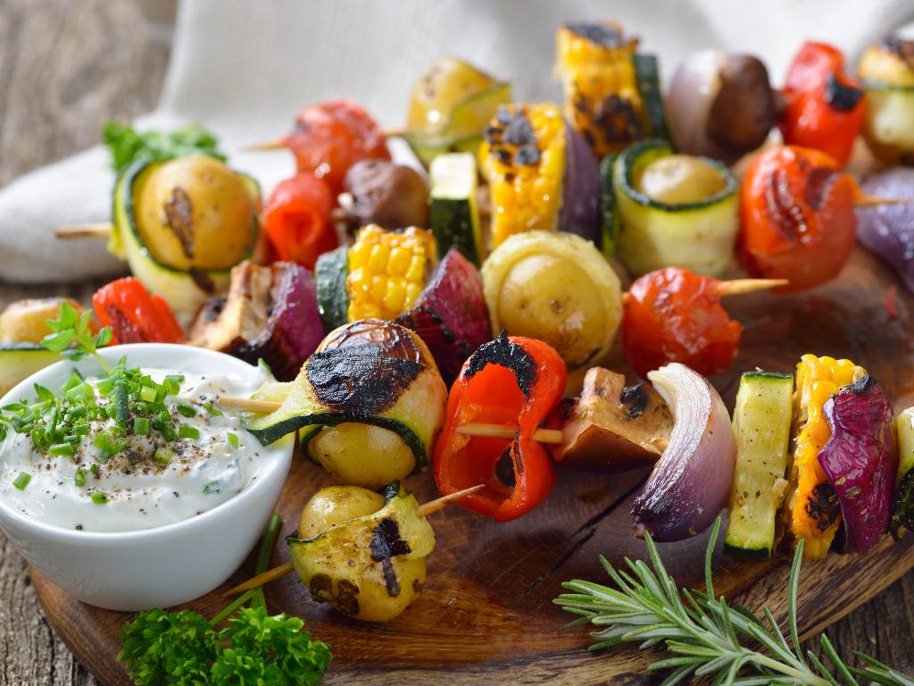 Nachhaltig Grillen: Gemüsespieße