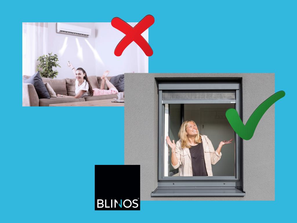 BLINOS Außenrollo statt Klimaanlagen